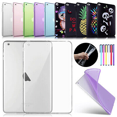 Shockproof Soft TPU Silicone Back Case Cover For iPad 9.7 6th 5th/Air 2/Mini/Pro