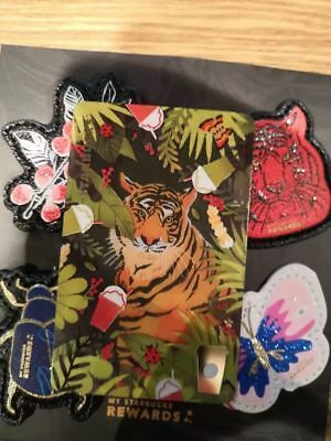 2018 New Starbucks China Jungle Tiger MSR Card Set