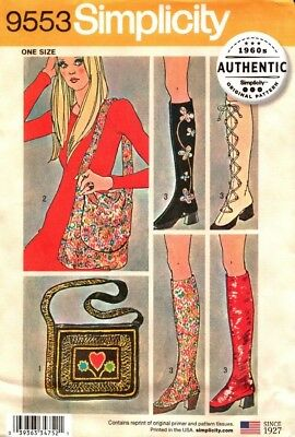 Simplicity Sewing Pattern 9553 Retro Vintage Bags and Spats