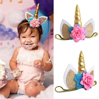 USA Magical Unicorn Horn Head Party Hair Headband Fancy Dress Cosplay Decorative