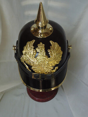 PICKLE HUBE German Armour Spiked Purssian Officer Helmet Without Leather Liner
