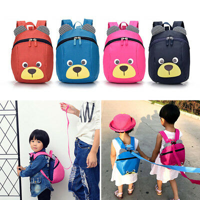 Child Backpack Anti-lost Bag Cartoon Animal Bear Kindergarten Kid School Bags UK