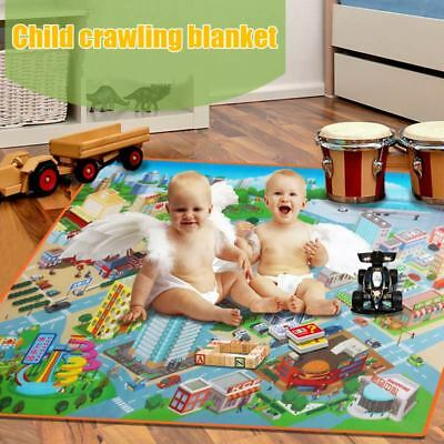 Children Kids Baby Crawling Blanket Carpet Rug City Life Road Traffic Play Mat
