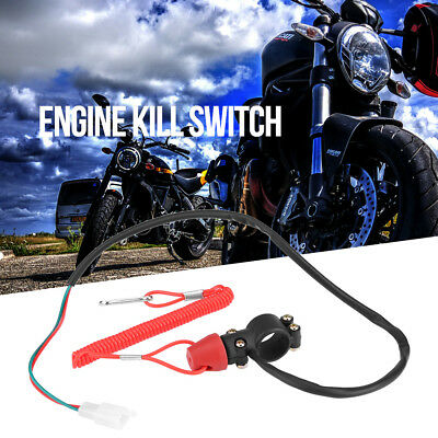 22mm Engine Cord Lanyard Kill Stop Switch Safety Tether For Motorcycle ATV Boat