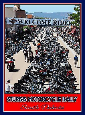 Sturgis Motorcycle Rally South Dakota United States Travel Advertisement Poster