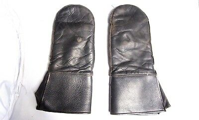 Rare WW2 German Military Army Leather Gloves Motorcycle Mountain Officer