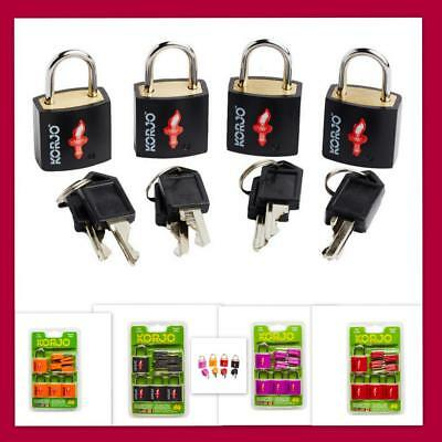 4x Korjo TSA Approved Keyed Locks Luggage Suitcase Padlock Travel Lock(4pk)-8key