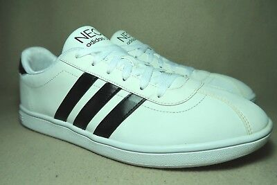 outlet store 7d032 5691b ADIDAS NEO VL NEO COURT Mens White Casual Trainers UK 9EU 43