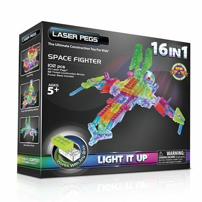 Laser Pegs 16 in1 Space Fighter Konstruktion Set
