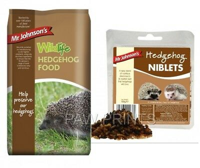 MR JOHNSON'S WILDLIFE GARDEN HEDGEHOG FOOD 750g / NIBLETS INSECT & SUET TREAT