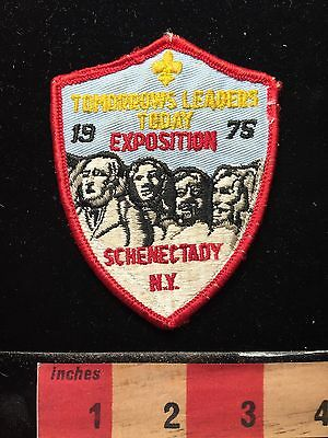 Vtg 1975 EXPOSITION Mount Rushmore BSA Boy Scout Patch SCHENECTADY New York 68WH