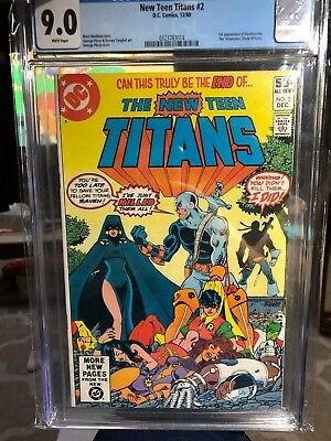 The New Teen Titans #2 (Dec 1980, DC) CGC 9.0 1st Appearance of Deathstroke *KEY