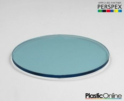 Laser Cut Plastic Circles Acrylic Discs Perspex 3mm, 5mm Light Blue Tint