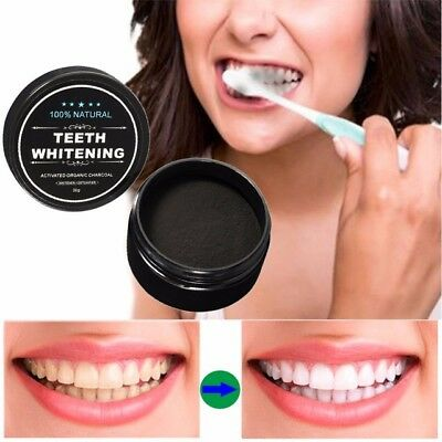 100% ORGANIC ACTIVATED CHARCOAL TOOTH TEETH WHITENING POWDER NATURAL CARBON 30g