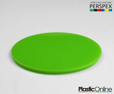 Laser Cut Plastic Circles Acrylic Discs Perspex Lime Green Gloss
