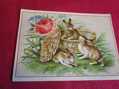 Antique Victorian Rabbit Trade Card The Great Atlantic & Pacific Tea Co. St.Paul