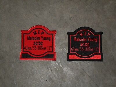 MALCOM YOUNG  Memorial Tombstone patch... ***** UPDATED 1 Jul 2018 *************