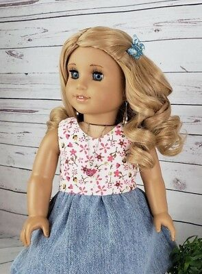 "10-11 Custom Doll Wig fit Blythe-American Girl-1/4 Size ""Golden Blonde Posy"" BN7"