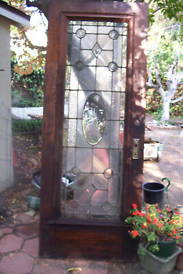 Beautiful Pa Antique Beveled Glass Door