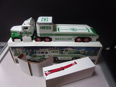 Vintage 1995 Hess Toy Truck and Helicopter NIB