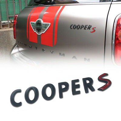For Mini Cooper Black Emblem Badge Metal Cooper S Logo Letter Countryman Clubman