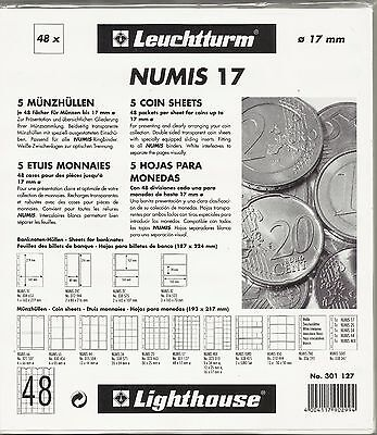LIGHTHOUSE NUMIS 48 Pocket COIN PAGES Pack of 5 NH48