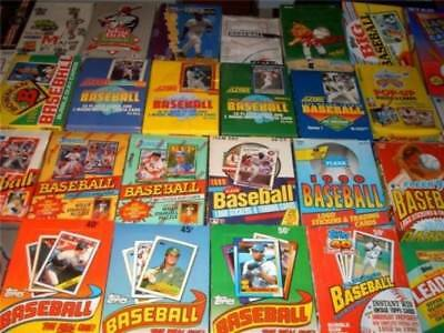 Huge lot of unopened baseball card packs from 20 years ago!