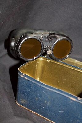 WWII Original Army Airforces Gunners Variable Density Goggles with metal box