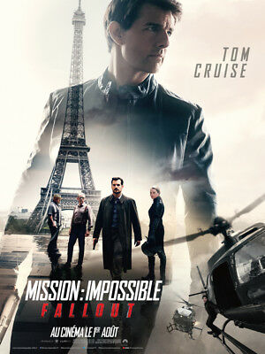 MISSION : IMPOSSIBLE - FALLOUT - Affiche cinema 40X60 - 120x160 Movie Poster
