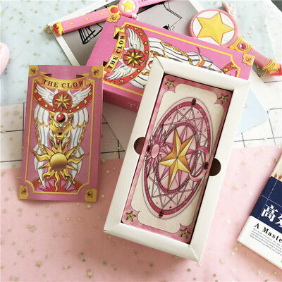 Japan Anime Card Captor Pink Sakura Clow Cards Collections Gift New 1Set/56Pcs