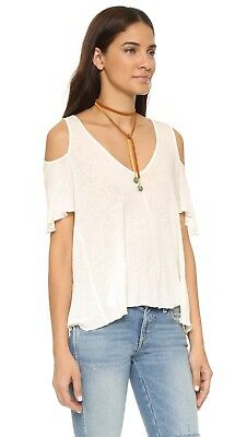 ac9c5298555 NWT! FREE PEOPLE Bittersweet Cold Shoulder T-shirt in Ivory Size ...
