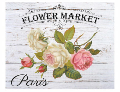 Vintage French Advertising Labels Roses Transfers Flower Market Decals FL522A