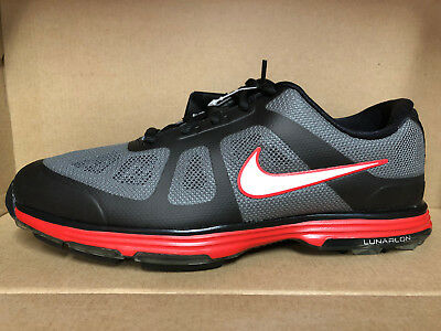 MENS NIKE LUNAR ASCEND GOLF SHOES SIZE 7.5 black red white 483841 001 -   49.97  abf97b1a9
