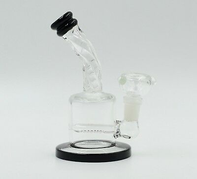 Hookah Water Pipe Bong Glass 6 inch clear inline perk handmade designer top