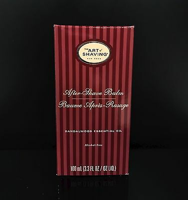 The Art of Shaving SANDALWOOD AFTER-SHAVE BALM 3.3 OZ (New in Box)