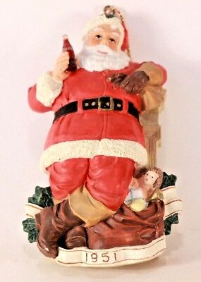 "Vintage 1995 Coca Cola Heritage Collection ""For Me"" Santa Claus Ornament."