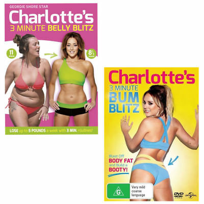Charlotte Crosby's 3 Minute Belly Blitz + Charlotte Crosby's 3 Minute Bum Blitz