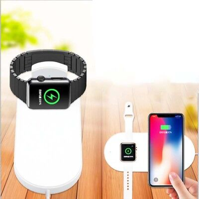 Wireless Charger Quick Charging Pad for iPhone X 8 Plus Apple Watch 2 3 AirPower
