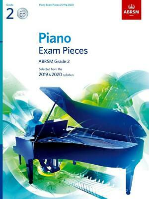 Piano Exam Pieces 2019 & 2020, ABRSM Grade 2, with CD   9781786010681  Paperback
