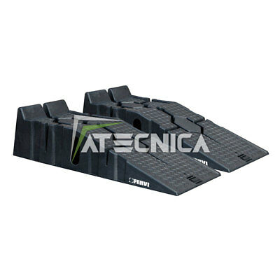 Pair of ramps for car 2,5 Ton FERVI R015 polypropylene height 170mm