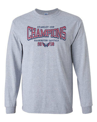 Washington Capitals Stanley Cup Champions Custom Mens Long Sleeve T-Shirt  Tee 6206005a1