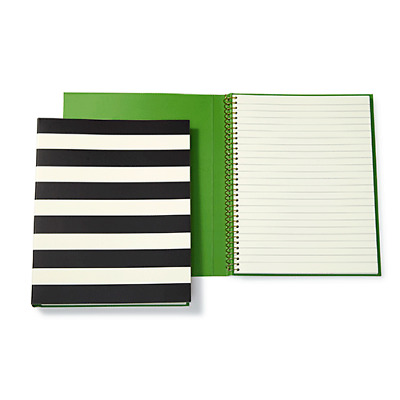 Kate Spade New York Black Stripe Notebook - NWT