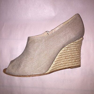 357b476e323 PRE-LOVED AUTHENTIC CHRISTIAN LOUBOUTIN size 39 Canvas ESPADRILLE wedges