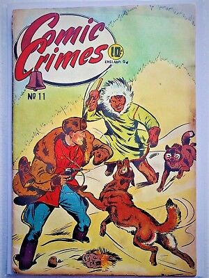 Comic Crimes #11 ( Bell Features, Nov. - Dec.1946) Canadian White Very Good