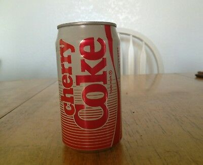 Cherry Coke can 1985 unopened 12 oz with original coke