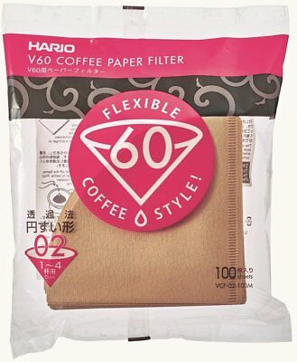 *Bulk Discount* HARIO V60 Coffee Paper Filter for 1-4cups VCF-02-100M 100 sheets