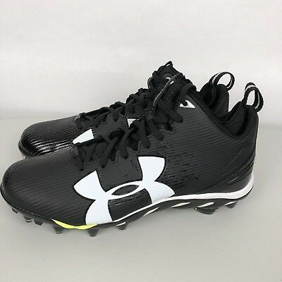 the best attitude 8502f 5a6a7 Under Armour Spine Cleats Size 10.5 Fierce MC Football Black White 1269740
