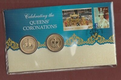 2013 - Queens'  Coronations  -  Stamp and Coin  PNC