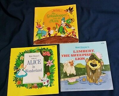 Lot Of 3 Vintage Walt Disney Children's Wonderful World Of Reading Books