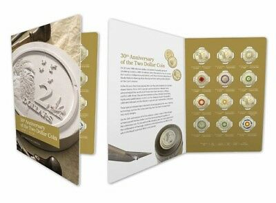 2018 Australia 30Th Anniversary Of The $2 Coin Set Of (12) In Nice Pack